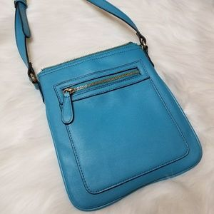Forever 21 Blue Shoulder Strap Bag Satchel Purse